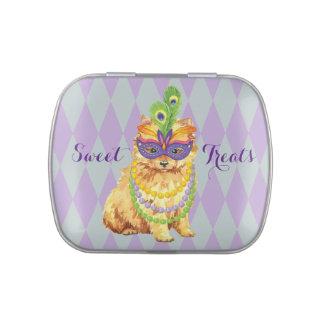 Mardi Gras Pomeranian Candy Tin
