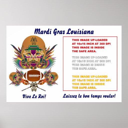 "Mardi Gras Poster 60""x 40""Customize View Notes"