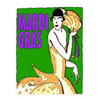 Mardi Gras Poster Postcard