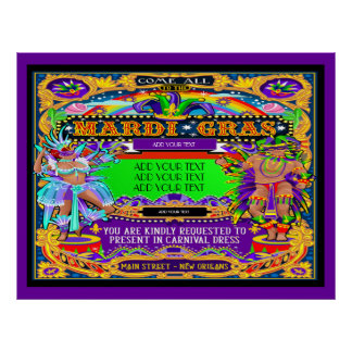 Mardi Gras Poster to be Customized
