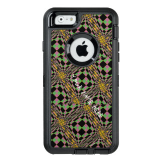 Mardi Gras Purple, Green and Gold Argyle OtterBox Defender iPhone Case