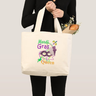 Mardi Gras Queen 2018 Large Tote Bag