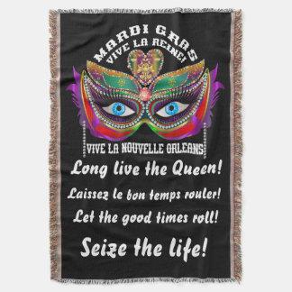 Mardi Gras Queen 5 Read About Design Below Throw Blanket