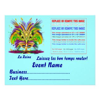 "Mardi Gras Queen 8.5"" x 11""  Please View Notes 21.5 Cm X 28 Cm Flyer"