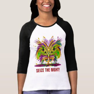 Mardi Gras Queen Front  Pirate Back T-Shirt