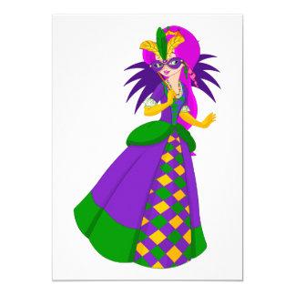 Mardi Gras Queen Invitations