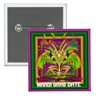 Mardi Gras Queen View Notes Please 15 Cm Square Badge