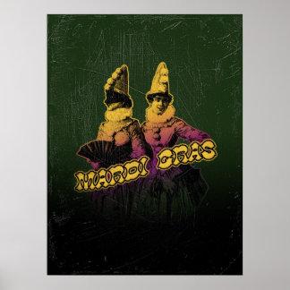 Mardi Gras Revelers Poster
