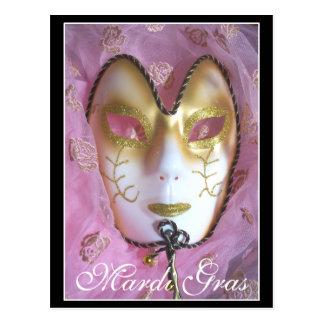 Mardi Gras Rose Post Card