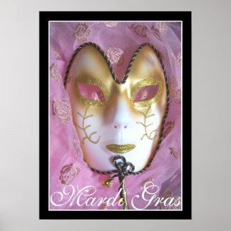 Mardi Gras Rose Poster