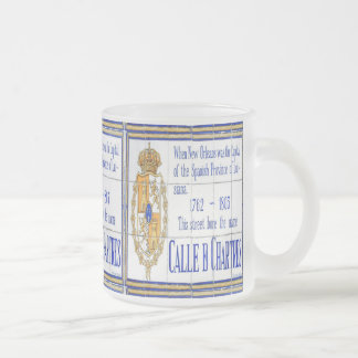 Mardi Gras Rue Chartres Mural Frosted Glass Coffee Mug