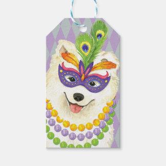 Mardi Gras Samoyed Gift Tags