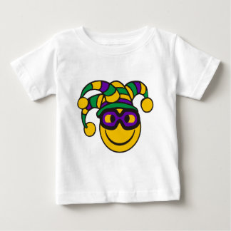 Mardi Gras Smiley Baby T-Shirt