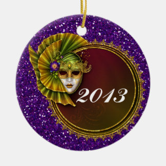 Mardi Gras - SRF Ceramic Ornament