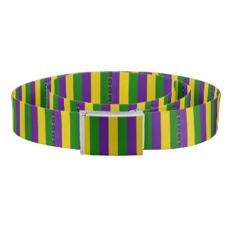 Mardi Gras Striped Pattern Belt