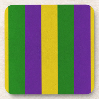 Mardi Gras Striped Pattern Coaster