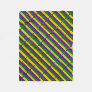 Mardi Gras Striped Pattern Fleece Blanket