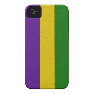 Mardi Gras Striped Pattern iPhone 4 Cover