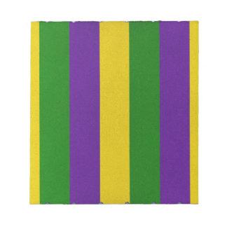 Mardi Gras Striped Pattern Notepad