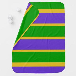 Mardi Gras Stripes Colors Baby Blanket