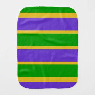 Mardi Gras Stripes Colors Burp Cloth