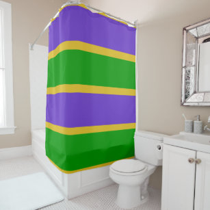 Mardi Gras Stripes Colors Shower Curtain
