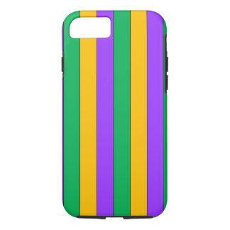 Mardi Gras Stripes Pattern Purple Green Yellow iPhone 8/7 Case