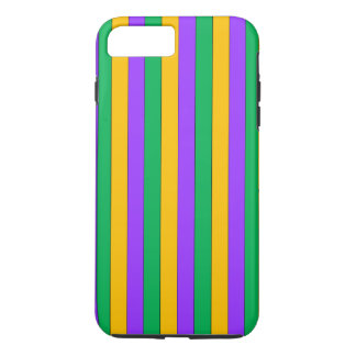 Mardi Gras Stripes Pattern Purple Green Yellow iPhone 8 Plus/7 Plus Case