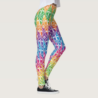 Mardi Gras Style Colorful Leggings