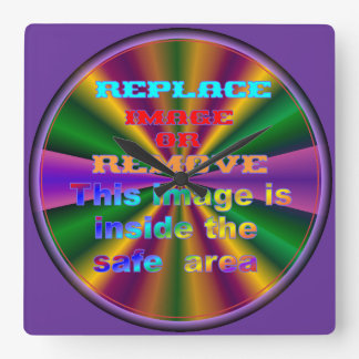 Mardi Gras Template Square Wall Clock
