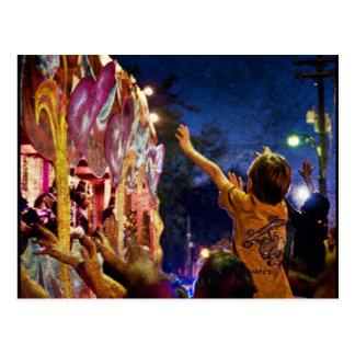 Mardi Gras Textures Postcard