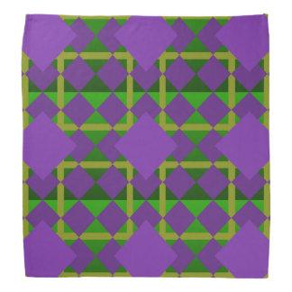 Mardi Gras Themed Purple, Gold and Green Bandana
