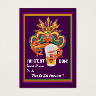 Throw business cards business card printing zazzle mardi gras throw crawfish view notes please business card colourmoves