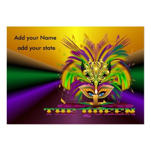 Mardi Gras Throws Business Cards