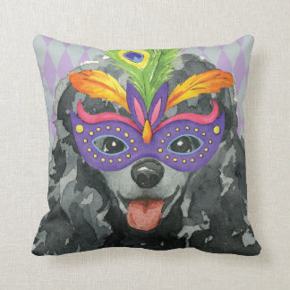 Mardi Gras Toy Poodle Cushion