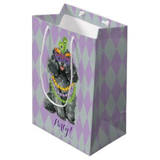 Mardi Gras Toy Poodle Medium Gift Bag