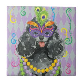 Mardi Gras Toy Poodle Tile
