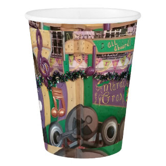 Mardi Gras Train Paper Cups
