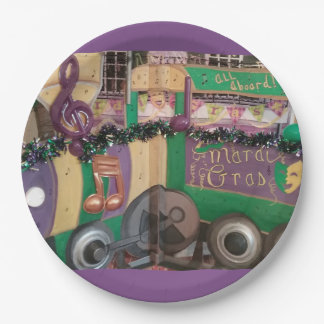 Mardi Gras Train Paper Plates