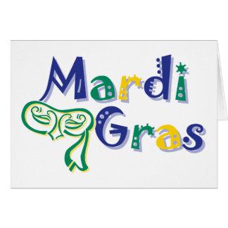 Mardi Gras Tri Mask Card