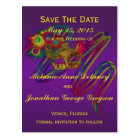 Mardi Gras Wedding SAVE THE DATE Postcards