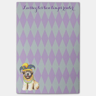 Mardi Gras Wheaten Post-it® Notes