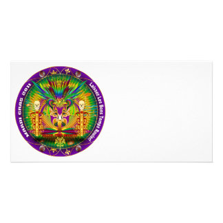 Mardi Gras Witch Doctor-Skull V-1 Photo Cards