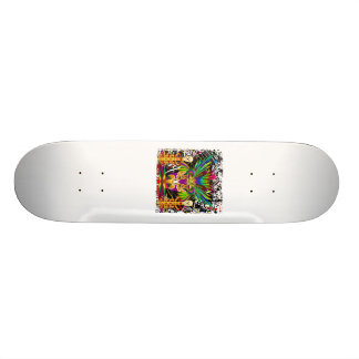 Mardi Gras Witch Doctor-Skull V-3-T 21.3 Cm Mini Skateboard Deck
