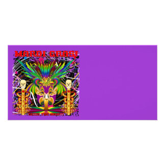Mardi Gras Witch Doctor-Skull V-3-T Photo Cards