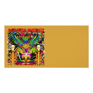 Mardi Gras Witch Doctor-Skull V-3-T Picture Card
