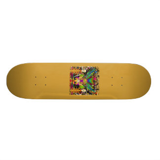 Mardi Gras Witch Doctor-Skull V-3-T Skateboard Decks