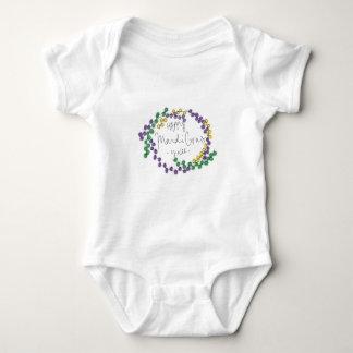 Mardi Gras Ya'll Beads Baby Bodysuit
