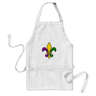 Mardi grass fleur-de-lys adult apron