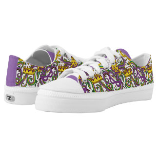 Mardi Graw Carnival Mask Low Top Shoes